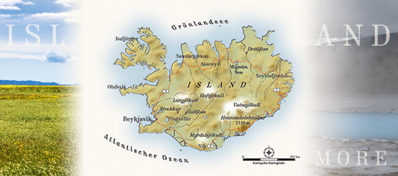 Reisekarte, Illustration Island