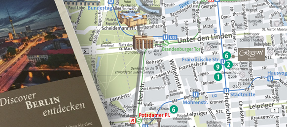 Stadtplan für Hotel in Berlin