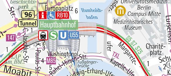 Stadtplan Berlin Hauptbahnhof