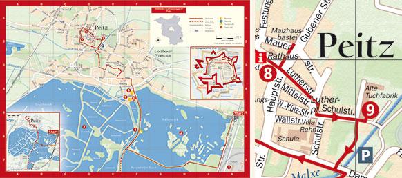 Stadtplan Peitz