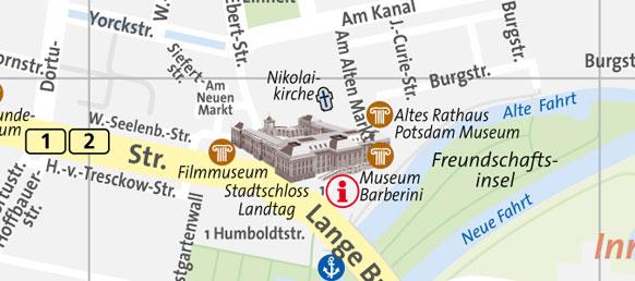 Karte Potsdamer Landtag