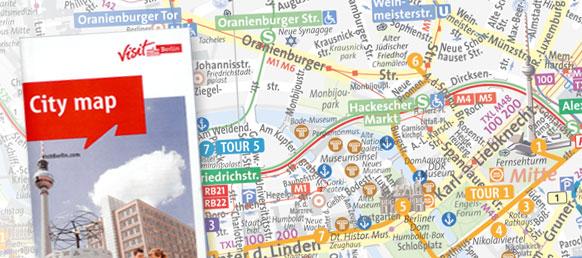 Stadtplan für Touristen Berlin