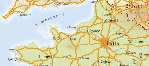 Nordfrankreich Karte.übersichtskarten Kartopolis Kartografie Berlin